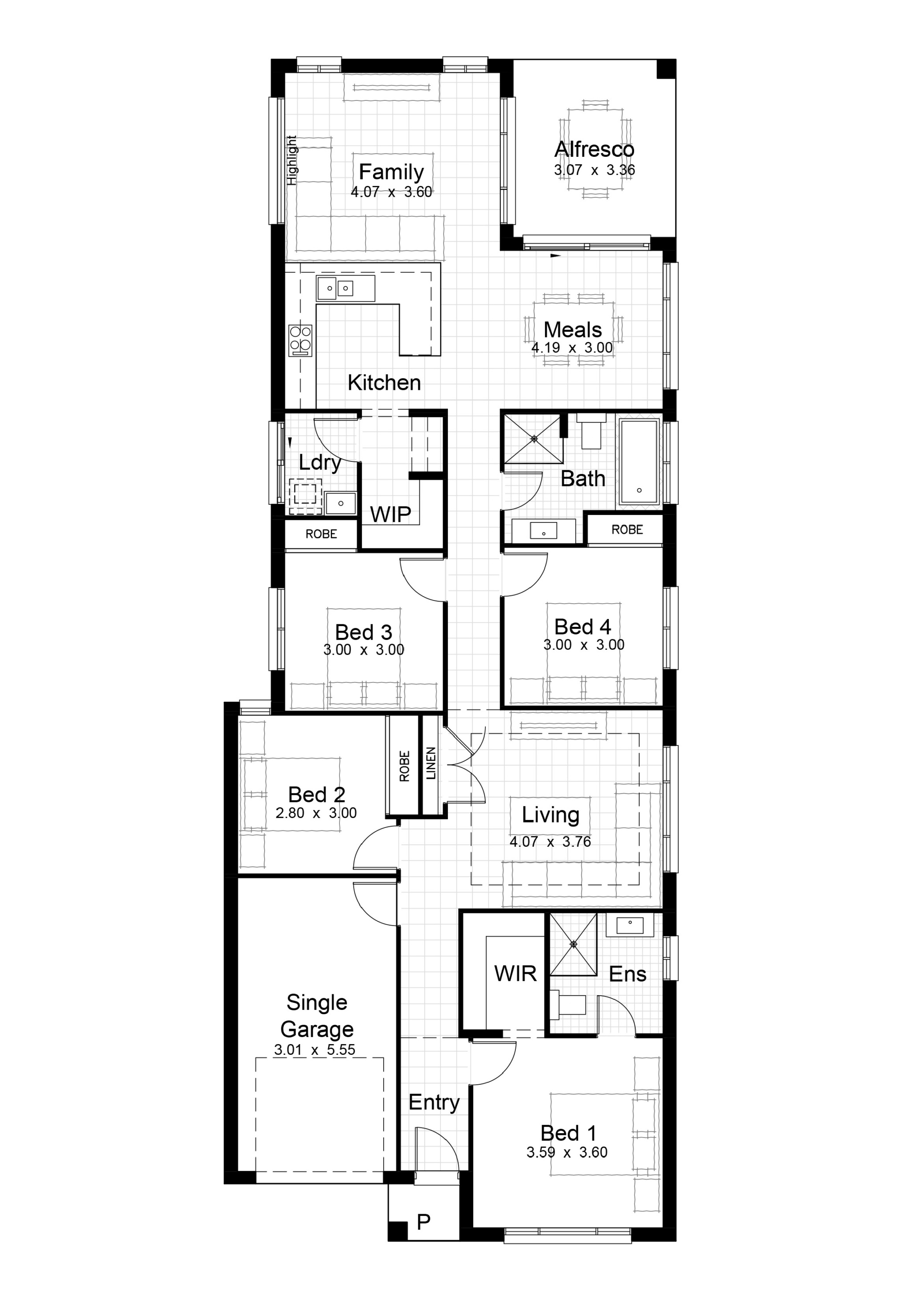 Single Level Plan_Lot 17