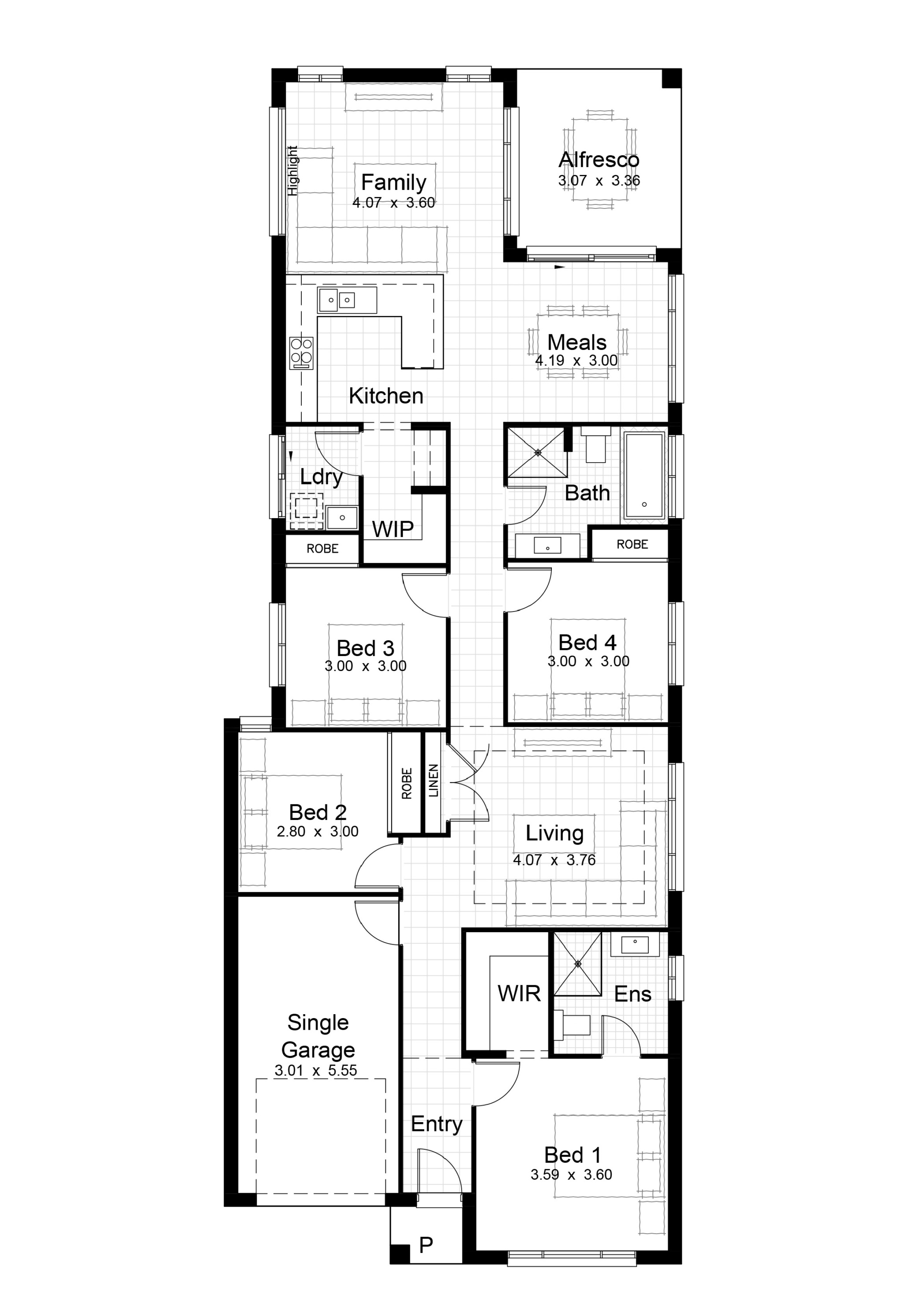 Single Level Plan_Lot 45